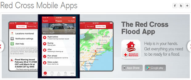 American Red Cross Flood App for Mobile Devices