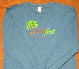 Linfest Long Sleeve Indigo Blue T-Shirt